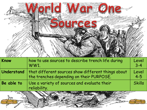 Y8 WW1 Source Analysis
