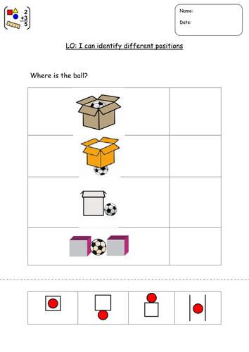 Position - using widgit symbols