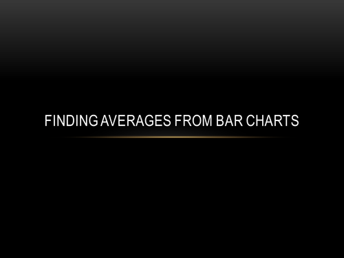 Averages from bar chart