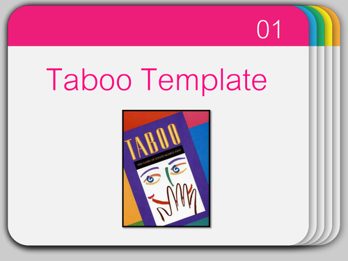 Taboo Game PowerPoint By Easyclassideas