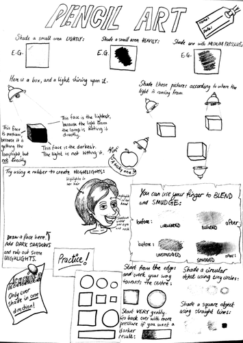Pencil Art Worksheet