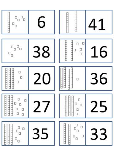 dienes dominoes 2 digit place value teaching resources. Black Bedroom Furniture Sets. Home Design Ideas