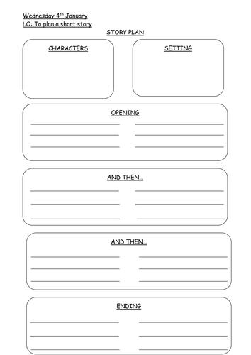 Short story planning sheet by imogenhudson teaching for Story planner free