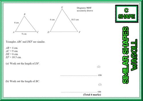 GCSE Mathematics Grade C Shape revision cards