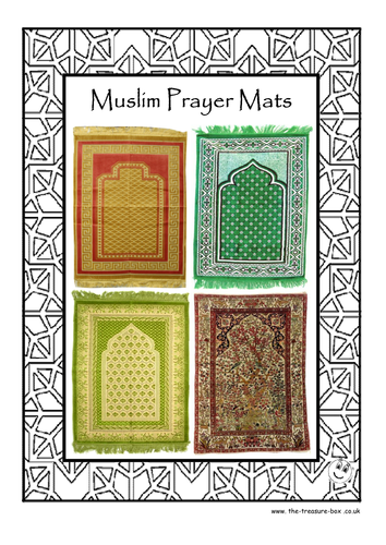 Guide And Craft Activity On Muslim Islamic Prayer Mats By