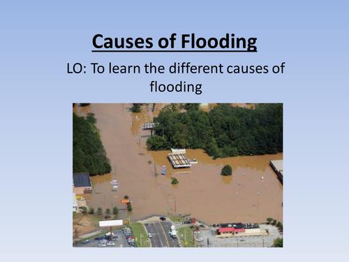 GCSE causes of flooding