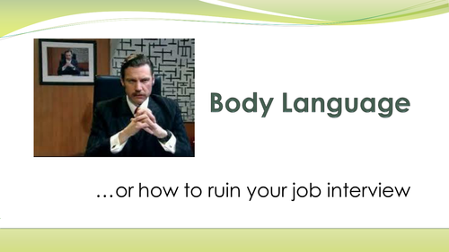 Body Language - How to Ruin Your Job Interview