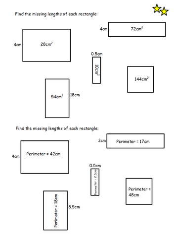 Area And Perimeter Of Rectangles Lesson By Sophiemccoy