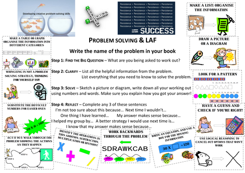 A3 Place mat Year 6-7  & Problem Solving
