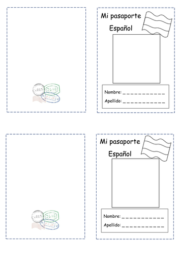 fun passport template - spanish passport blank by greenwoode teaching
