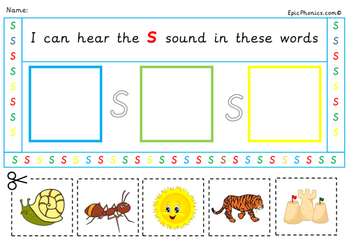 Phase 2 Phonics Initial Sounds Activity