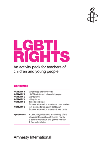 Activity Pack: LGBTI Rights