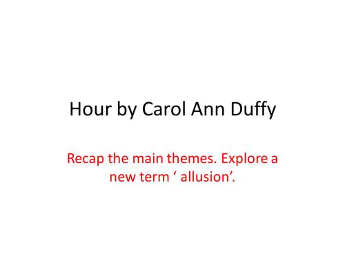 Hour by Carol Ann Duffy