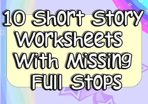Adding Full Stops Practice 10 Worksheets KS1 or KS2 EAL or SEN by ...