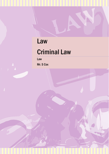 Criminal Law Guide and Study Textbook
