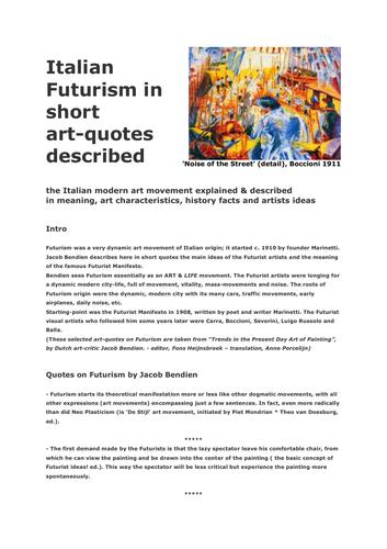 How do I describe futurism?