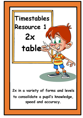 TIMESTABLES RESOURCE 1    -  2X TABLE