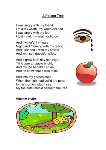 Extended Metaphors - William Blake's 'A Poison Tree'