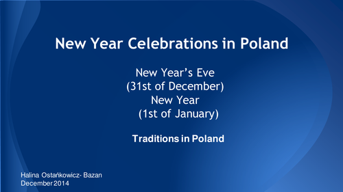New Year Celebrations in Poland