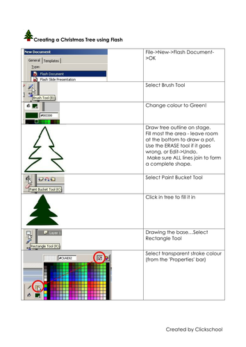 Creating a flashing light Christmas Tree with Flash