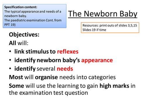 Child Development Newborn Baby tests, appearance, examination