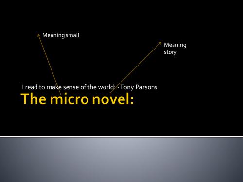 Micro-novel: Creative writing made more accessible.