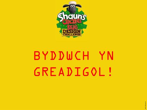Shaun's Cracking Ideas Design Challenge (Cymraeg)