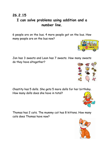 Year 1 addition word problems by Mazeriebee - Teaching Resources - TES