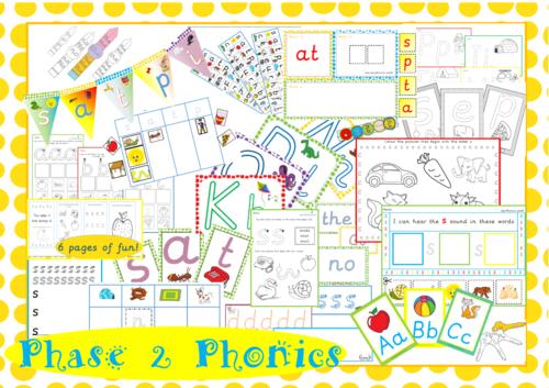 Phase 2 Phonics MEGA PACK
