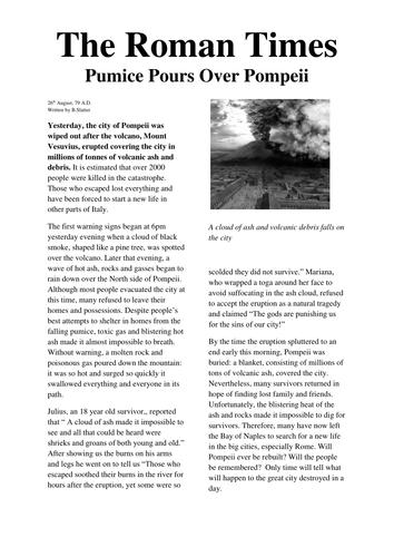 Writing newspaper articles ks2