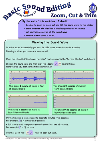 Sound Editing Using Audacity by snegreid - Teaching Resources - Tes