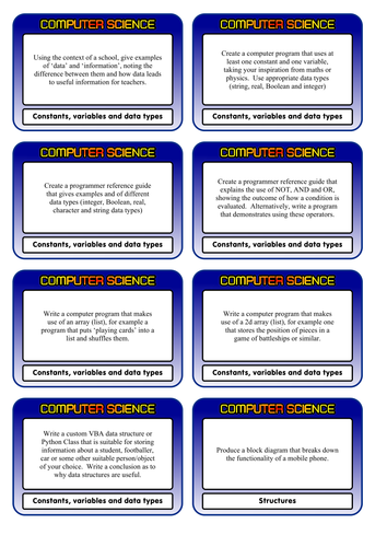 Aqa gcse computer science challenge cards aqa gcse computer science challenge cards by clickschool teaching resources tes publicscrutiny Gallery