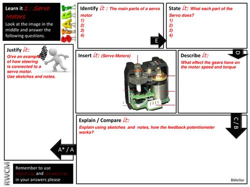 AQA GCSE Engineering 2015 exam revision- Servo motors