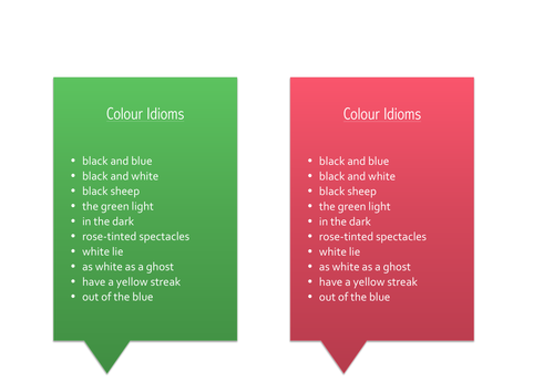 Creative Writing: Colour Symbolism