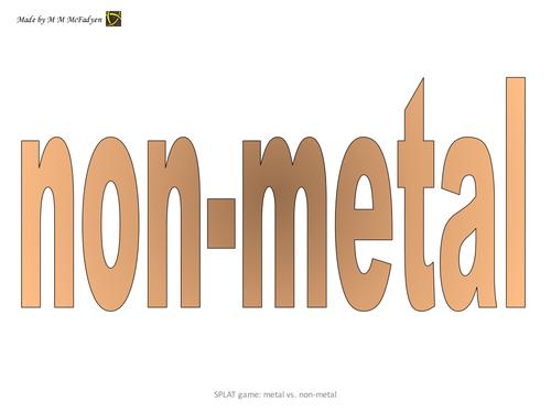 SPLAT game - Metals versus Nonmetals
