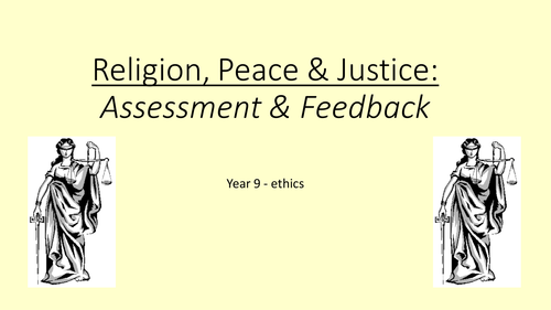 OCR Peace & Justice Assessment and feedback