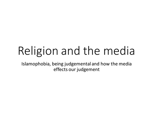 A current (March 2015) short video clip on religious prejudices, stereotyping & Islamophobia