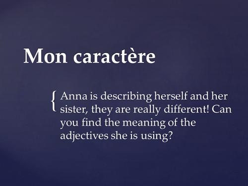 Adjectives describing personality