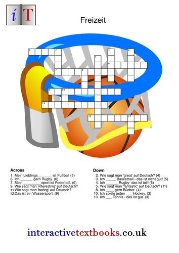 Freizeit/ Sports and Hobbies Crossword
