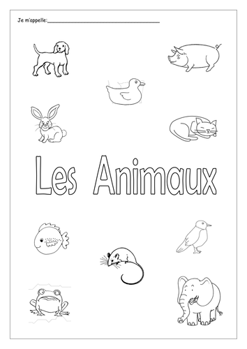 FRENCH - Animals - Les Animaux - Activity Booklet - Worksheets