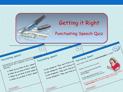 Getting It Right - Punctuating Speech