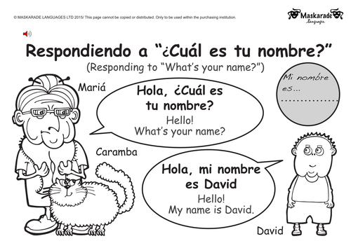 KS1- SPANISH: Greetings, Age, Gender, Manners by