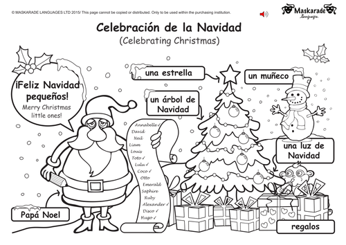 ks1 spanish level 1 christmas easter by maskaradelanguages teaching resources. Black Bedroom Furniture Sets. Home Design Ideas