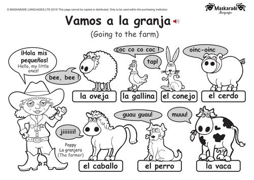 KS1-SPANISH: Level 1: Farm and Zoo animals by maskaradelanguages ...