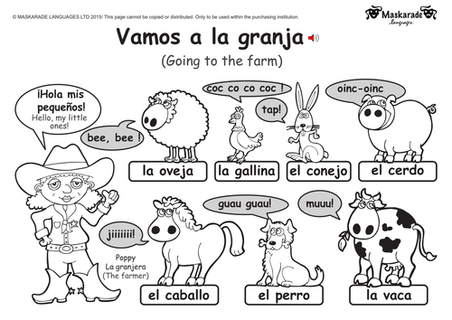 ks1 spanish level 1 farm and zoo animals by maskaradelanguages teaching resources. Black Bedroom Furniture Sets. Home Design Ideas