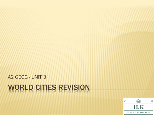 Geography World Cities Revision Powerpoint