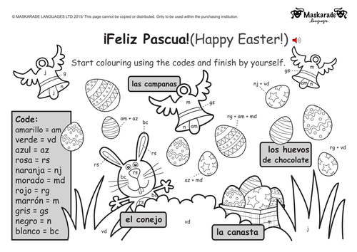 ks1 spanish level 2 easter by maskaradelanguages teaching resources. Black Bedroom Furniture Sets. Home Design Ideas