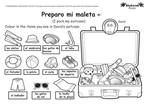 ks1 spanish holiday transport by maskaradelanguages teaching resources tes. Black Bedroom Furniture Sets. Home Design Ideas