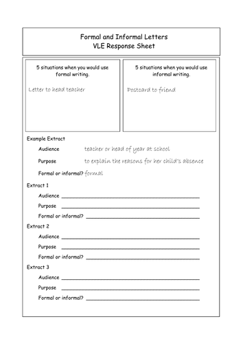 Formal and informal letters for the gcse english language exam by formal and informal letters for the gcse english language exam by johndayus1 teaching resources tes spiritdancerdesigns Images