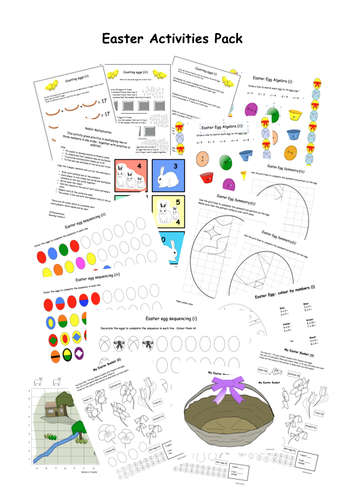 Easter Activities Maths fun pack